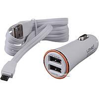 Автомобильное зарядное устройство LDNIO 2USB 3.4A + USB cable micro (9DL-C28)