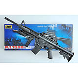 Автомат детский 1158B, винтовка М16 c пульками, лазер, фонарик, игрушечное оружие, автомат игрушечный, фото 2