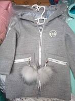 Пальто для девочки с капюшоном весна-осень.Размер 92, 98,104,110 см см.