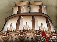 Комплект постельного белья полуторного Город,постельное белье интернет