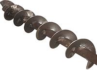Сегментная шнековая спираль (шнек) с внутренним валом.