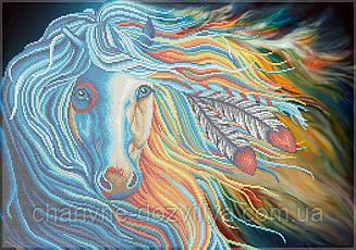 """Схема для вышивки бисером на габардине """"Сказочная лошадь"""" (40х60см)"""