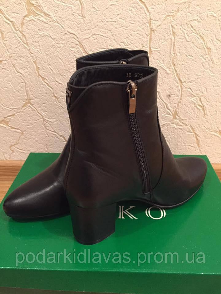 Черные  женские ботиночки VIKO- 38р натуральная кожа