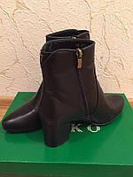 Черные  женские ботиночки VIKO- 38р натуральная кожа, фото 1