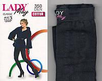 Теплые колготы Lady May 350 den 3р черные