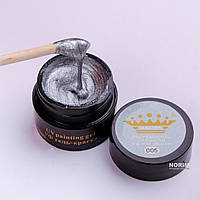 Гель краска Master Professional 5 ml №005 Серебро с плотным блеском