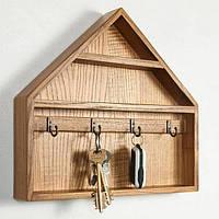 Art - ключница из дерева «Wooden Housekeeper» для прихожей в скандинавском стиле