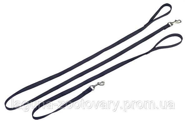Sprenger 2м/20мм прорезиненный поводок с ручкой для собак, нейлон, черный
