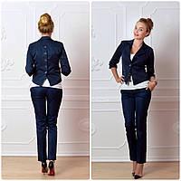 Пиджак  женский, модель 14, синий 46