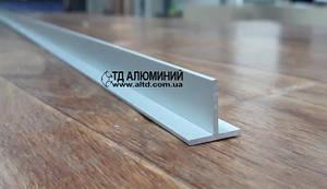Т образный профиль 10х10х1 / анод серебро