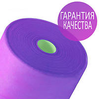 Одноразовые простыни в рулонах 0,8х100 метров 20 г/м2, медицинские, для салонов красоты, фиолетовые