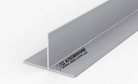 Т профиль алюминиевый 24х14,7х1,7 / анод серебро