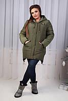 Куртка-парка зимняя, модель  204, хаки