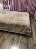 Покрывало на кровать с длинным ворсом меховое 220х240 цвет капучино