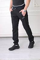 Мужские спортивные штаны Adidas(реплика)88580 2 черные код 806б