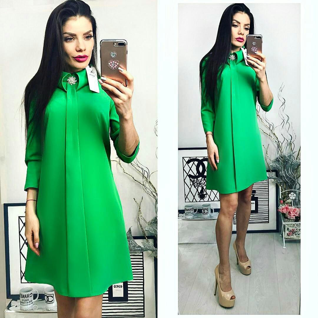 Платье женское, модель 770,зеленый(трава)