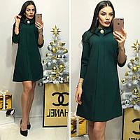 Платье женское, модель 770,темно-зеленый(бутылка)