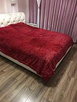 Покрывало на кровать с длинным ворсом 220х240 цвет бордовый