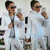 Куртка демисезонная, модель  211, белый