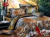 Постельное белье полуторное Леопард,магазин постельного