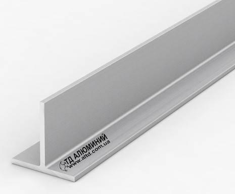 Т образный профиль 40х40х3 / анод серебро
