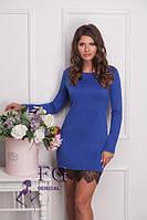Стильное и модное платье с кружевом, цвета графит, бордо, электрик, черный, капучино, коралл