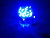 Гирлянда электрическая с насадкой шарик,  50 светодиодов, длина 5 м. с коннектором  цвет Синий
