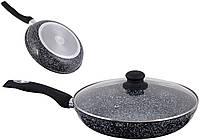 Сковорода мраморная / керамическая индукция 30 см Hoffman HF 2030GS