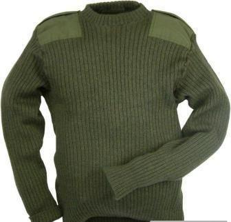 Военный шерстяной свитер (олива)