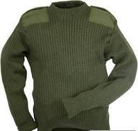 Военный шерстяной свитер (олива) , фото 1