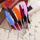 Ручка шариковая в винтажном стиле Перо, фото 3