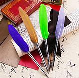 Ручка шариковая в винтажном стиле Перо, фото 4
