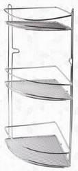 Полка в ванную комнату 3-ярусная угловая  1580 Тадар