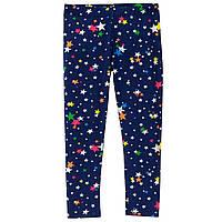 Трикотажные синие лосины в звезды Crazy8 для девочки