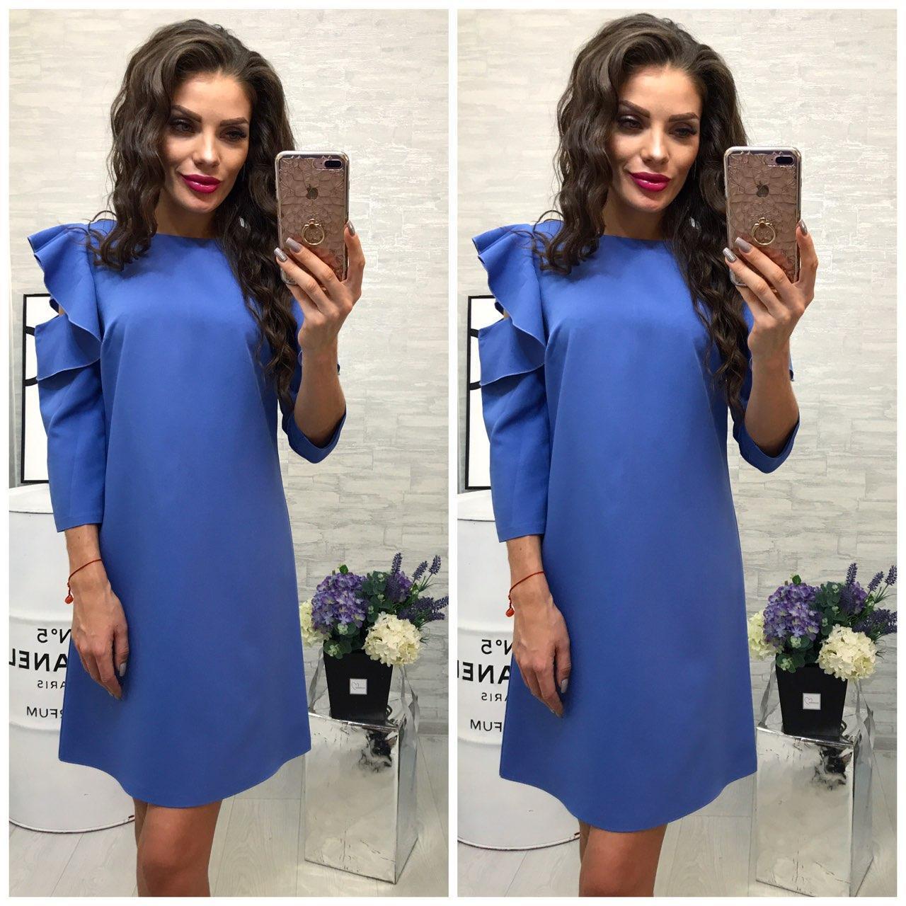 54f7f848c52 Платье Модель 783 2 Голубой — в Категории