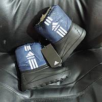 Сапоги детские демары Adidas (Адидас). Дутики (дутыши) сноубутсы с  утеплителем. 3033c27080440