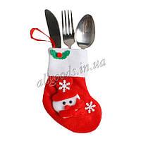 Носок Рождественский. Декор Новогоднего стола Снеговик