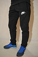 Мужские утепленные спортивные брюки Nike (найк) - темно-серые штаны
