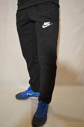 Утепленные спортивные брюки Nike (найк) / размеры:46,48,50 темно-серые мужские штаны, фото 2