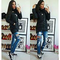 Куртка-парка зимняя, модель 204, черная