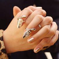 Милое кольцо на ногте украшено рисунком стрекозы и стразом для женщин (1 шт) Один размер