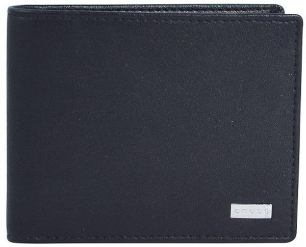 Вместительное черное портмоне из натуральной кожи CROSS Insignia AC248121B-1, 11 х 9 х 1.7 см