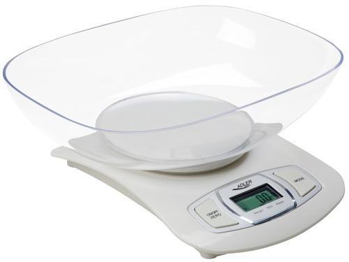 Весы кухонные ADLER AD 3137 (white/silver)