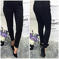 Женские брюки утепленные ( 301) черные в точку