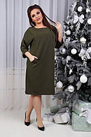 Платье женское, модель 772 , хаки