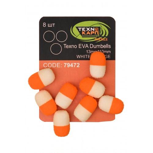 Texno EVA Dumbells 13mm*10mm white/orange