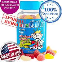Gummi King, Мультивитамины и минералы для детей, 60 жевательных конфет в виде мишек,Украина
