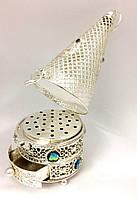 Бахурница металлическая Silver RN007 (30x10см)