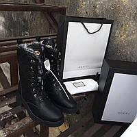 Женские зимние сапоги на шнуровке Gucci