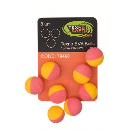 Texno EVA Balls 10mm pink/yellow